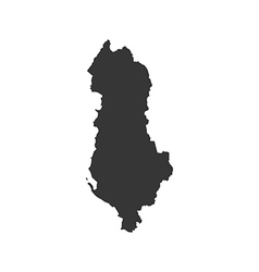 Albania map silhouette vector