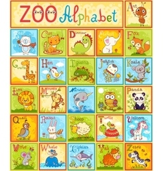Alphabet with animals vector