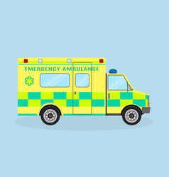 ambulance vehicle emergency medical service car vector image