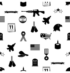 american veterans day celebration seamless pattern vector image