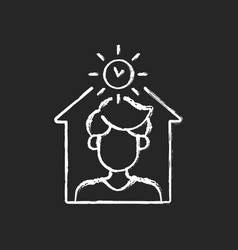 Avoid being out during day chalk white icon vector