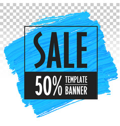 Banner template for sales trend eps vector