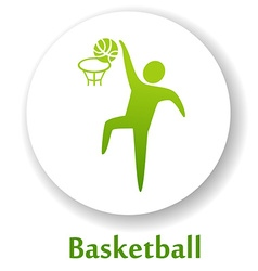 BasketballB vector image