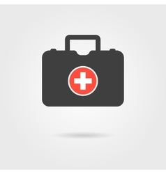 black medical case with shadow vector image