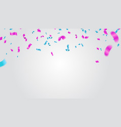 blue and purple confetti serpentine or ribbons vector image