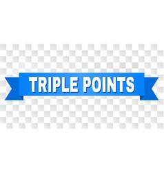 Blue stripe with triple points caption vector