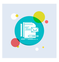 brand company identity letter presentation white vector image