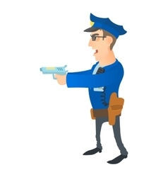 Brave policeman icon cartoon style vector