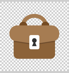 Briefcase sign icon in transparent style suitcase vector