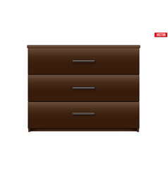 brown chest drawers vector image