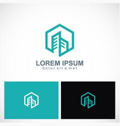 building architecture cityscape logo vector image