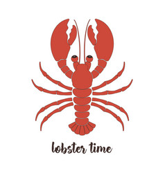 Card with lobster vector