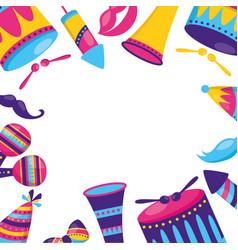 carnival festive celebration vector image