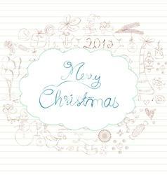 Christmas scrapbook element vector
