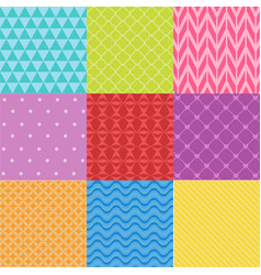 Colorful abstract seamless pattern set vector