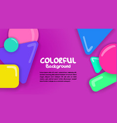 colorful background with shapes bubbles vector image