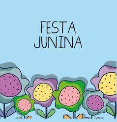 Colorful flower to celebrate the festa junina vector