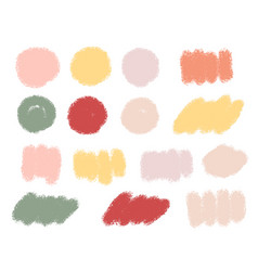 colorful pastel grunge brush paint badge banner vector image