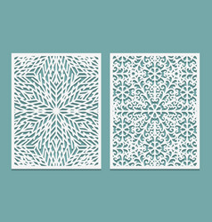 Die and laser cut decorative panels with vector