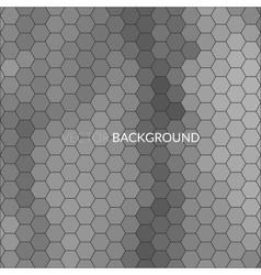 Digital hexagon pixel mosaic background vector image