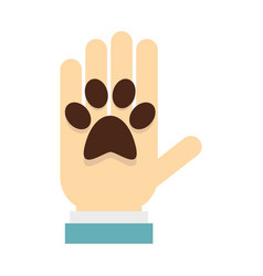 Donations for pets icon flat style vector