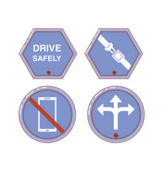 Driver safely campaign label vector