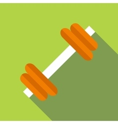 Dumbbell icon flat style vector