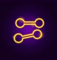 Dumbbell neon sign vector