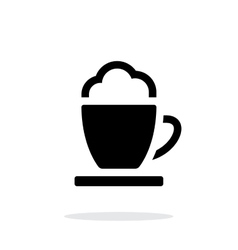 Espresso cup simple icon on white background vector image