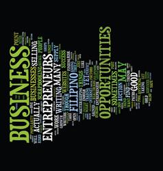 Filipino entrepreneur text background word cloud vector