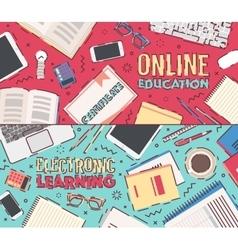 Flat concept online education vector image