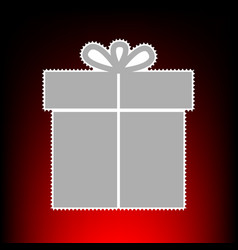 gift style on red vector image