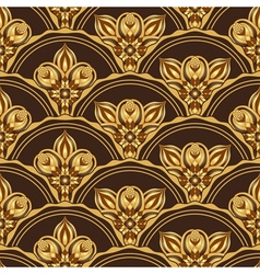 Gold and browne seamless pattern vector
