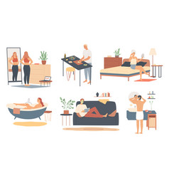 Health skin and body care daily personal care vector