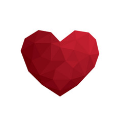 heart love polygon geometric flat design icon vector image