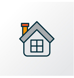 house icon colored line symbol premium quality vector image
