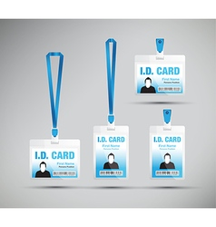 Id card man blue vector