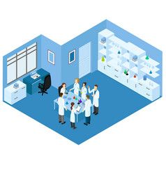 isometric science laboratory concept vector image
