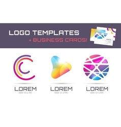 Logo and business card template Abstract vector