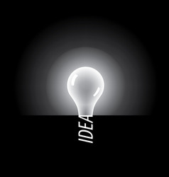 logo of light bulb with concept ideas vector image