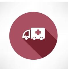 medical car icon vector image vector image
