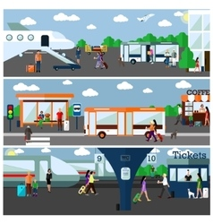 Mode of Transport concept vector image