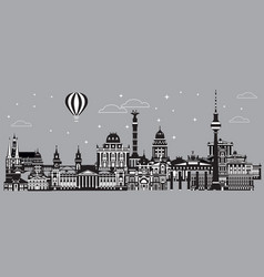 panoramic berlin skyline vector image