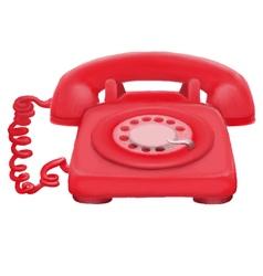 Pastel classic telephone vector