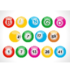 Pixel bingo balls vector