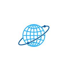 planet globe logo icon design vector image