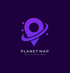 Planet map template vector