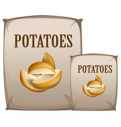 Potatoes in the bag vector