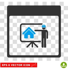 Realty developer calendar page eps icon vector