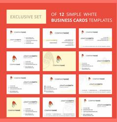 set of 12 santa clause creative busienss card vector image